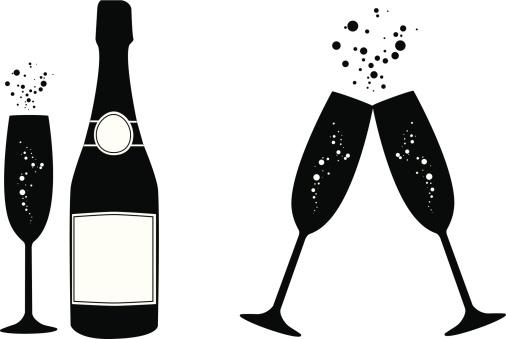 Champagne Vecteurs et Illustrations Libres de Droits - iStock