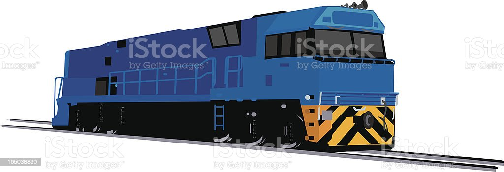 Vector image of a blue freight train royalty-free stock vector art