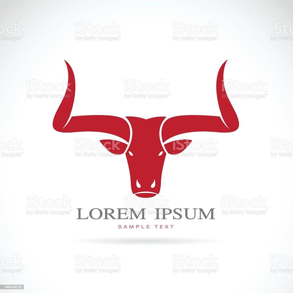 vector image of a bull vector art illustration