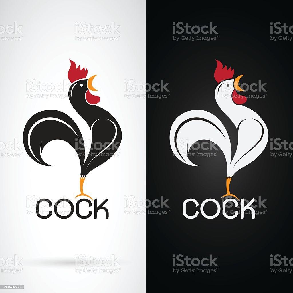 Vector image of a cock design vector art illustration