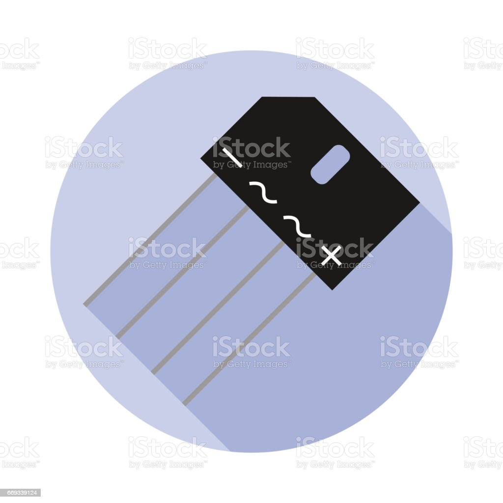 Vector image of a diode bridge vector art illustration