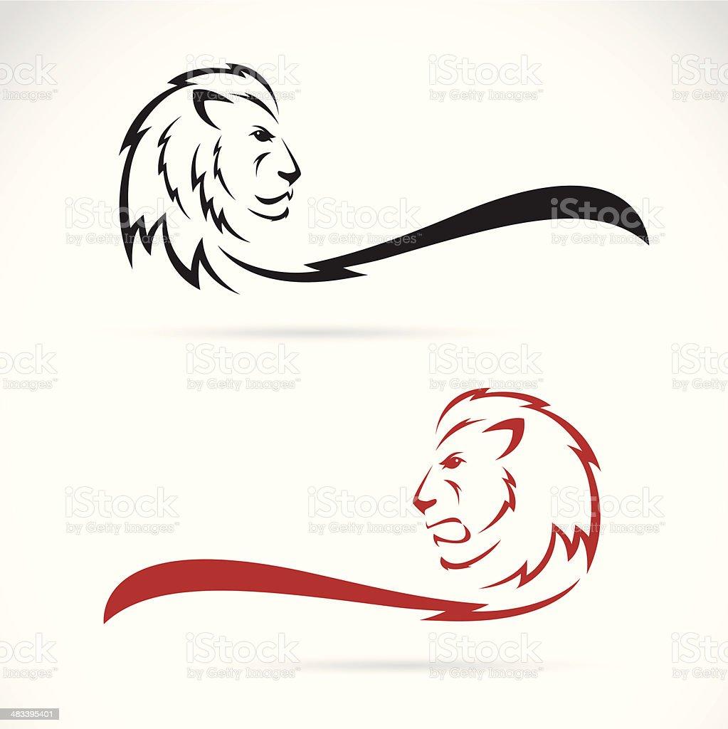 Vector image of a lion vector art illustration