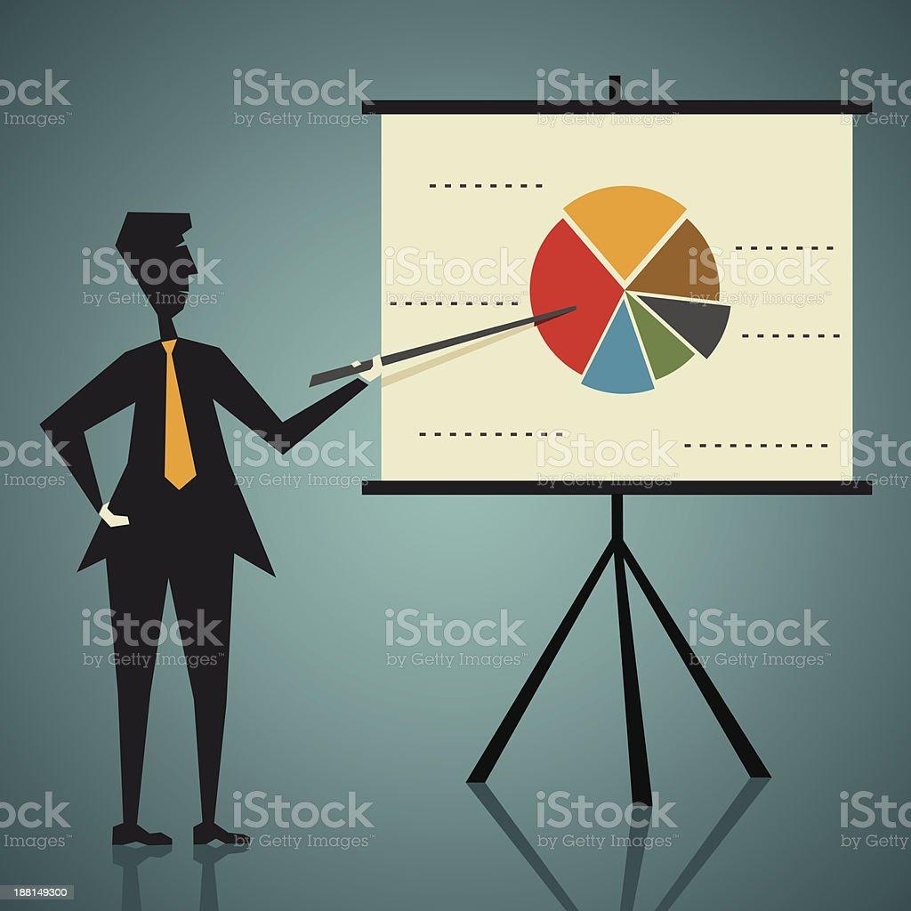 A vector image of a presentation concept royalty-free stock vector art