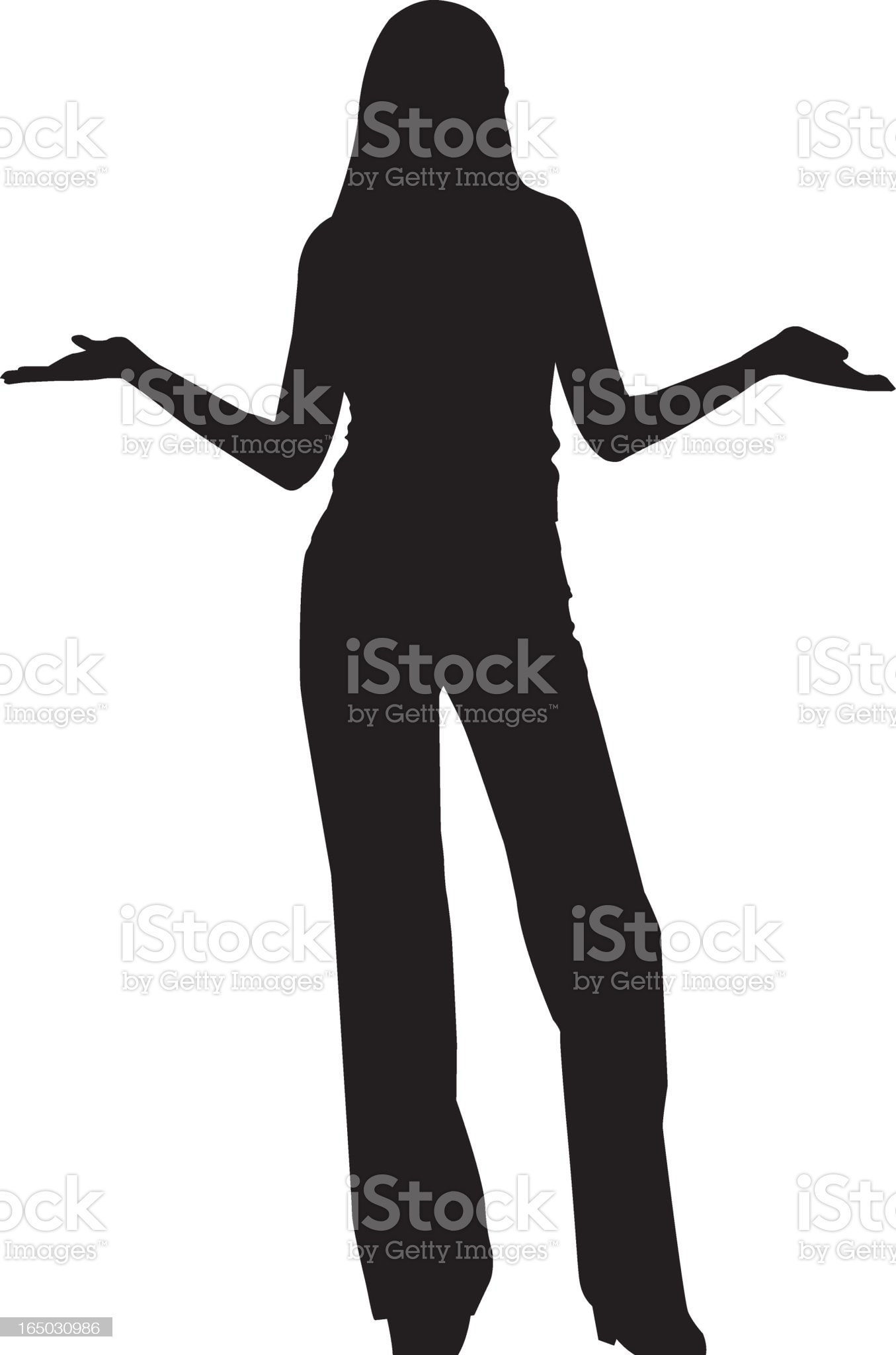 A vector image of a woman on a white background royalty-free stock vector art