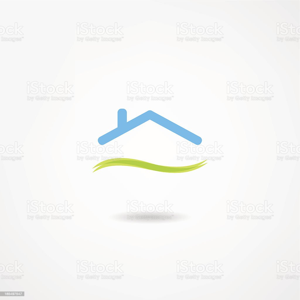 Vector image of abstract house icon vector art illustration