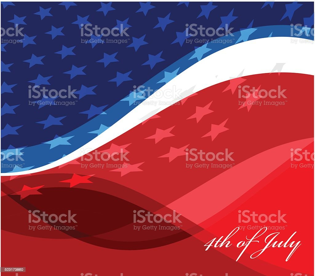 vector image of american flag vector art illustration