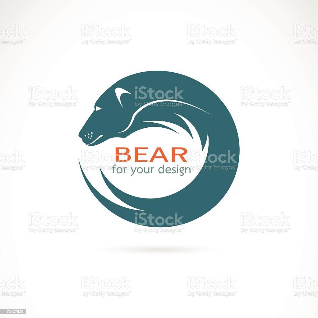 Vector image of an bear design on white background vector art illustration