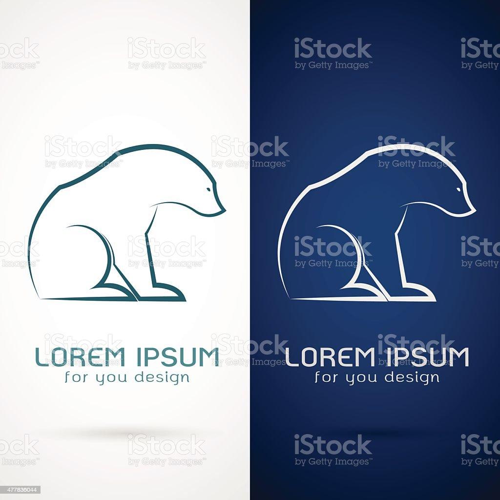 Vector image of an bear design vector art illustration