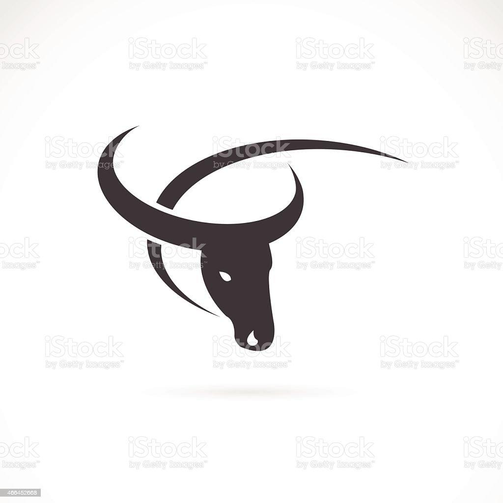 Vector image of an buffalo design on white background. vector art illustration