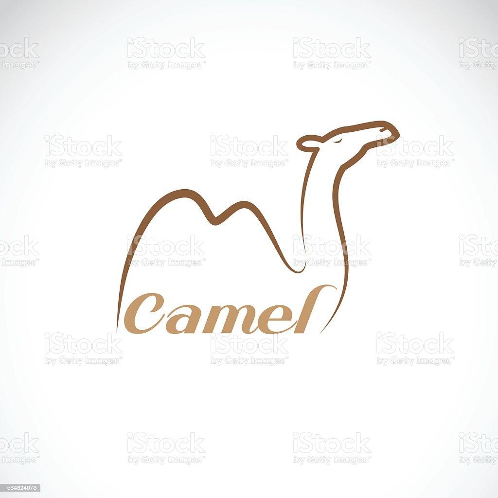 Vector image of an camel design vector art illustration