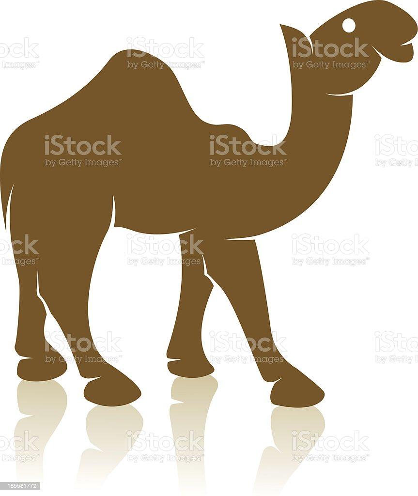 Vector image of an camel royalty-free stock vector art