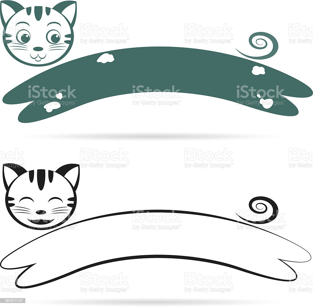 Vector image of an cat royalty-free stock vector art