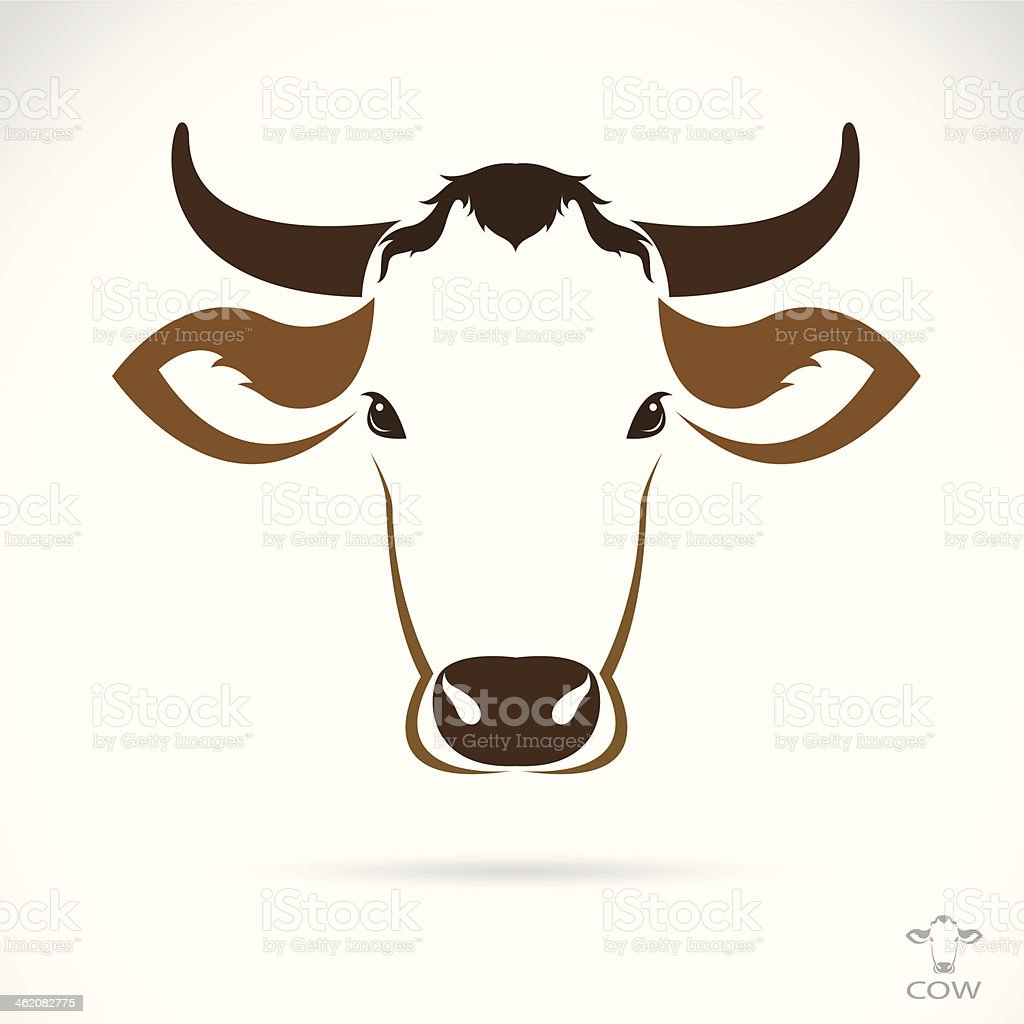 Vector image of an cow head royalty-free stock vector art