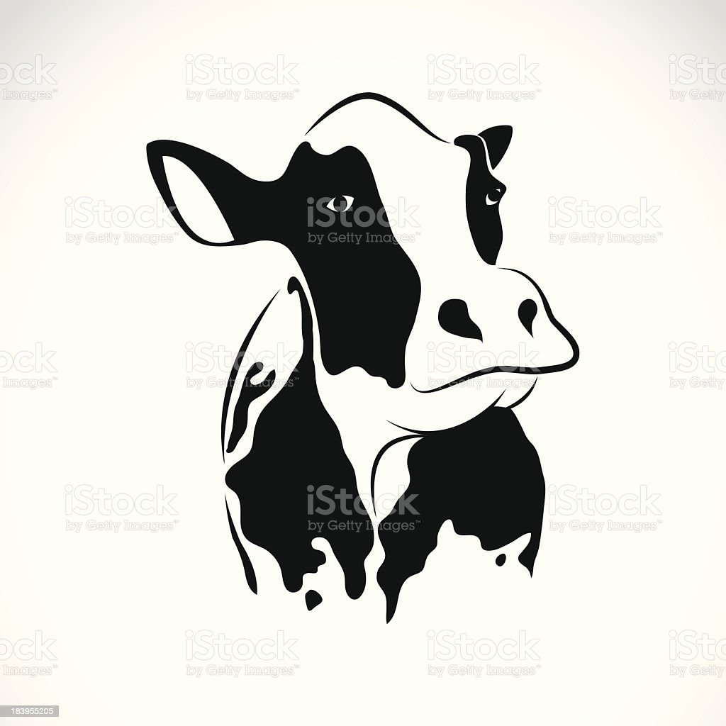 Vector image of an cow royalty-free stock vector art