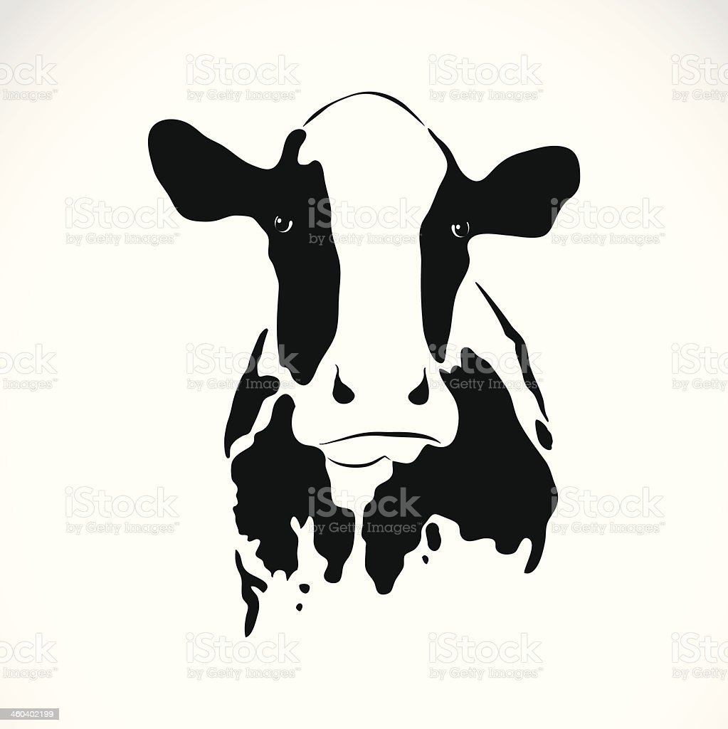 Vector image of an cow vector art illustration