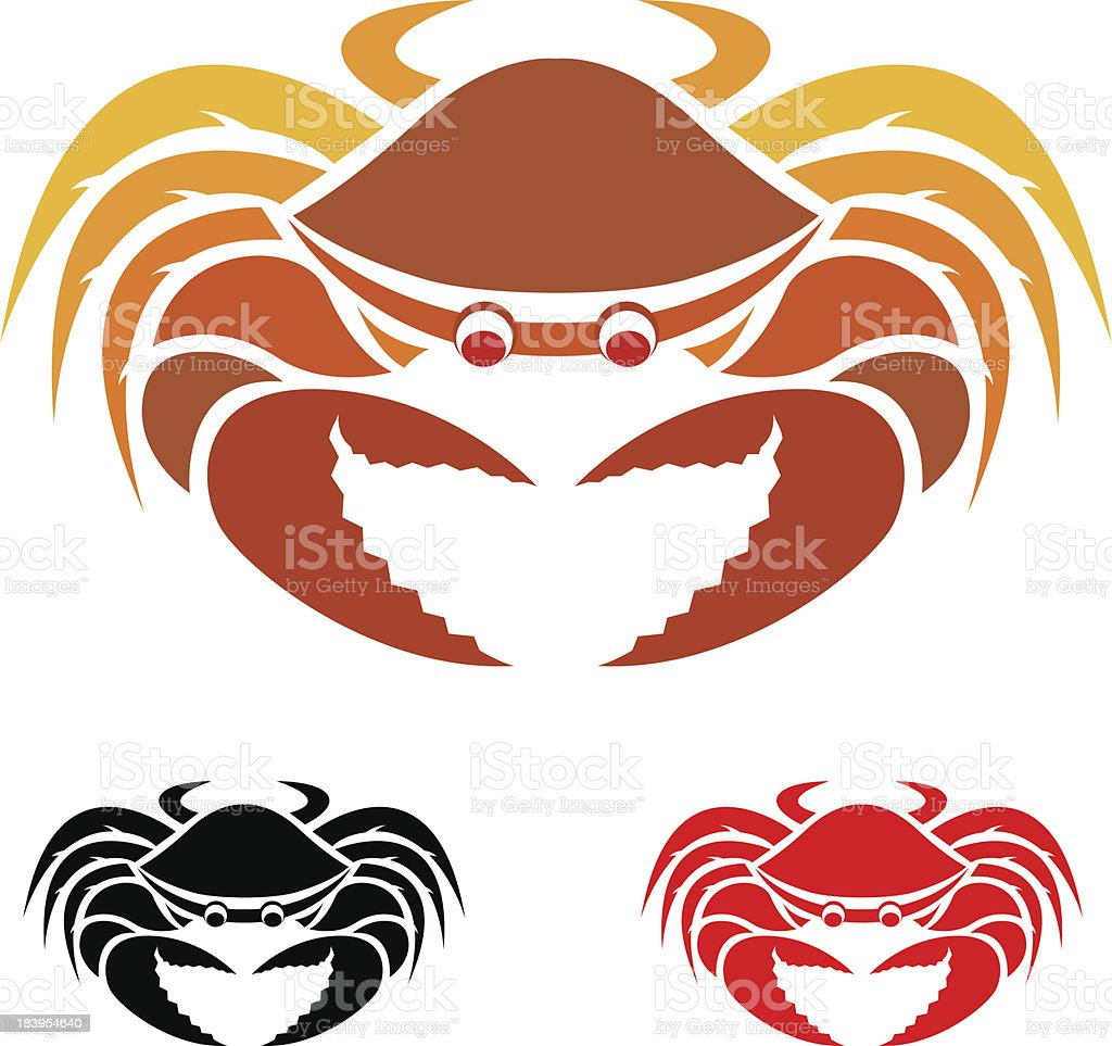 Vector image of an crab royalty-free stock vector art