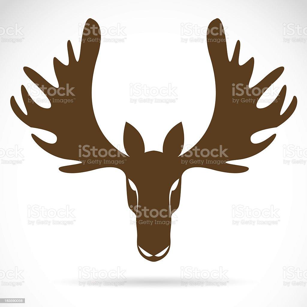 Vector image of an deer head royalty-free stock vector art