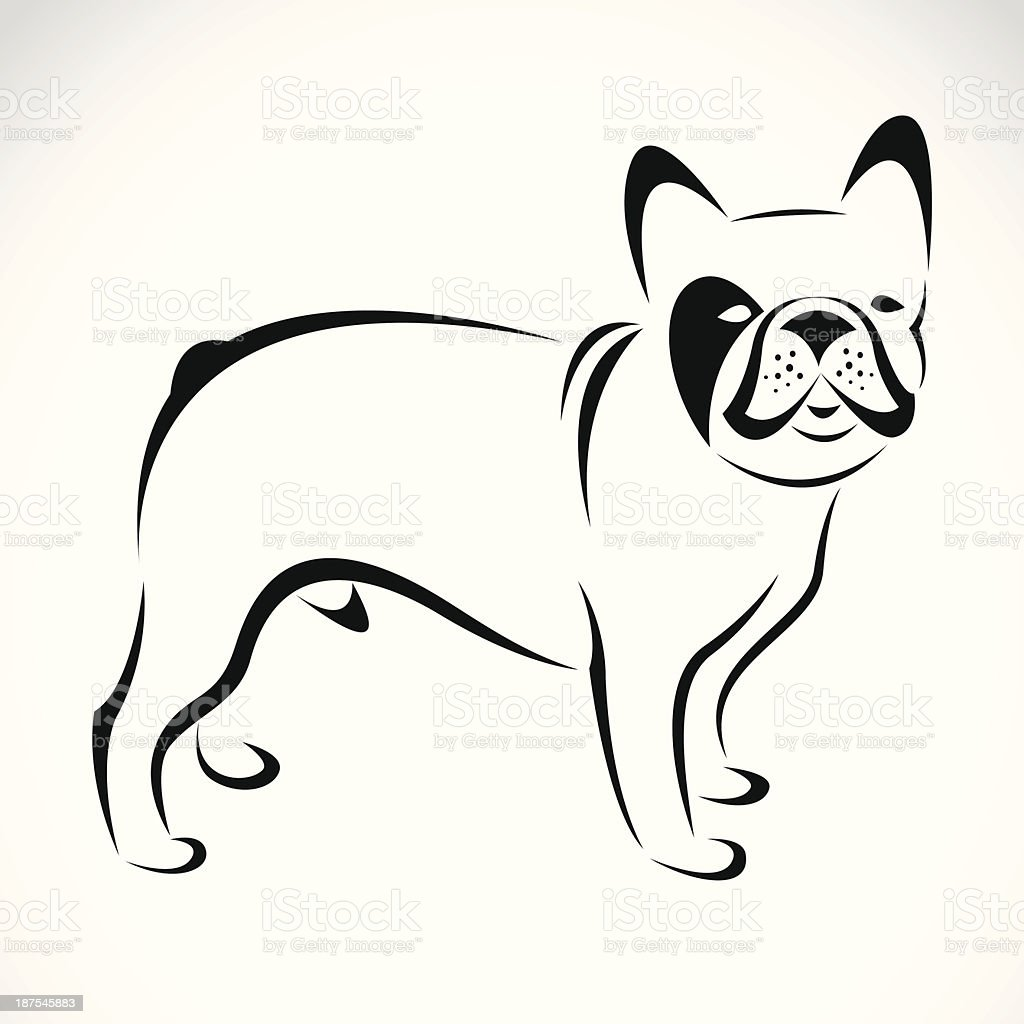 Vector image of an dog (bulldog) royalty-free stock vector art