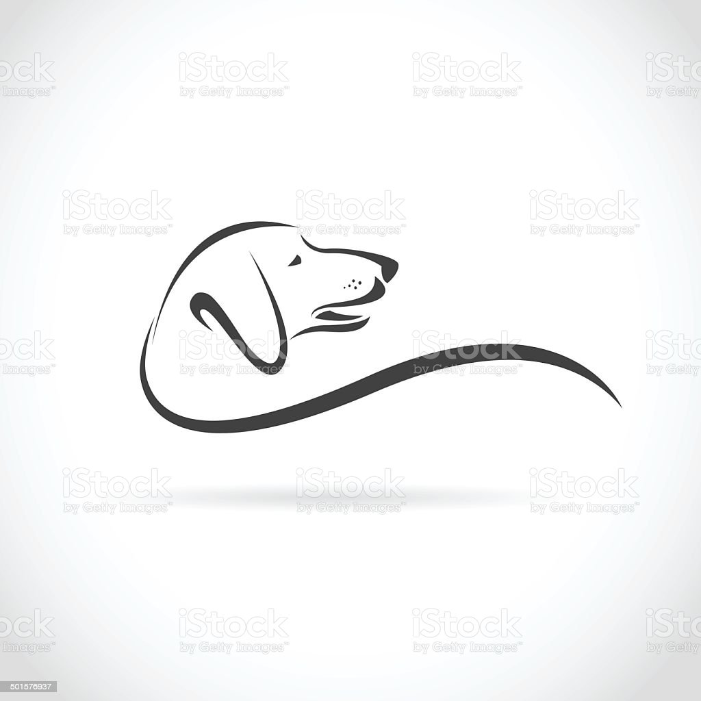 Vector image of an dog (Dachshund) vector art illustration