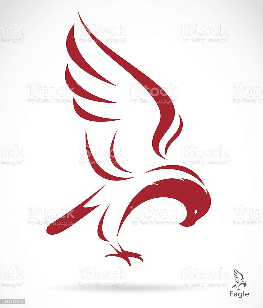 Vector image of an eagle royalty-free stock vector art