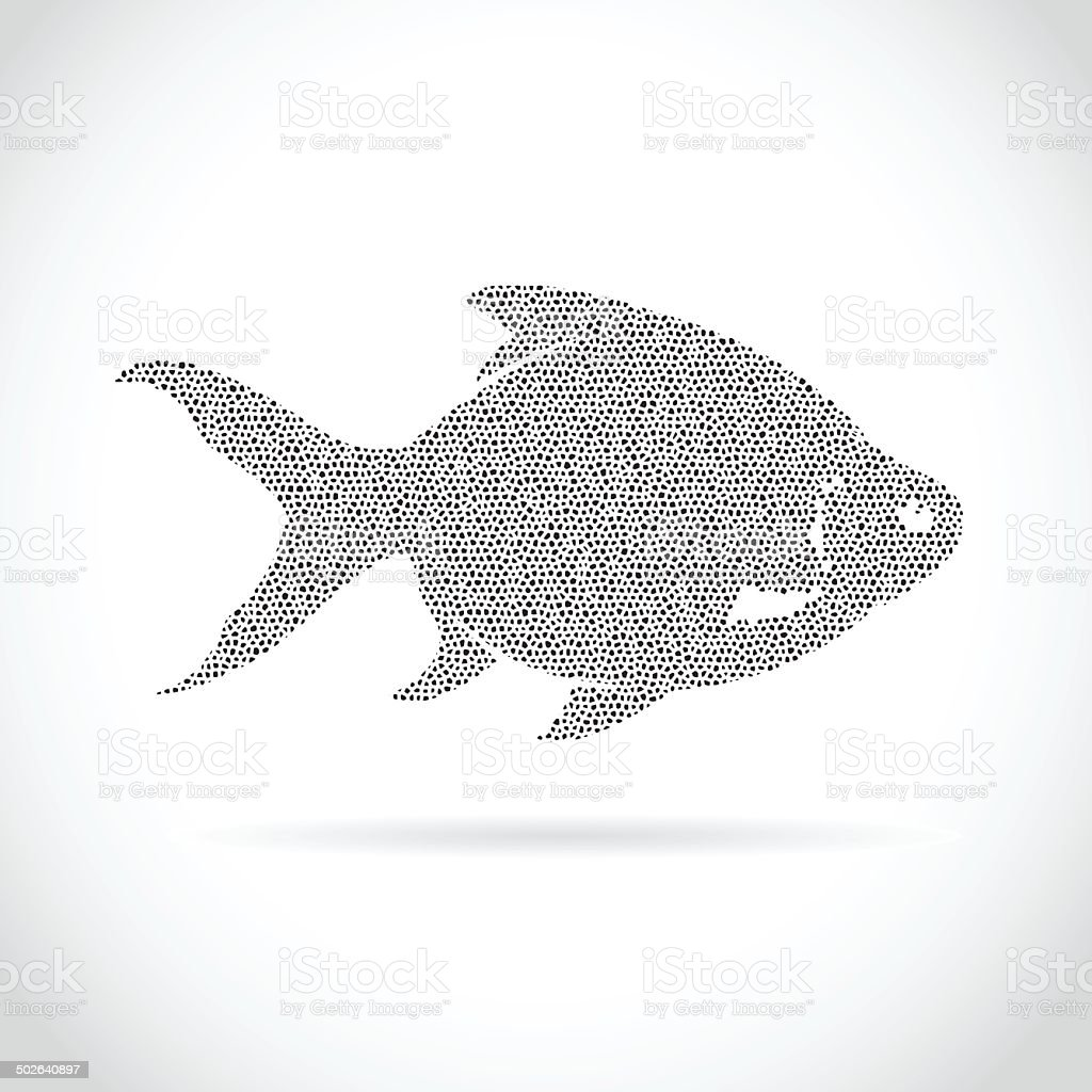 Vector image of an fish design vector art illustration