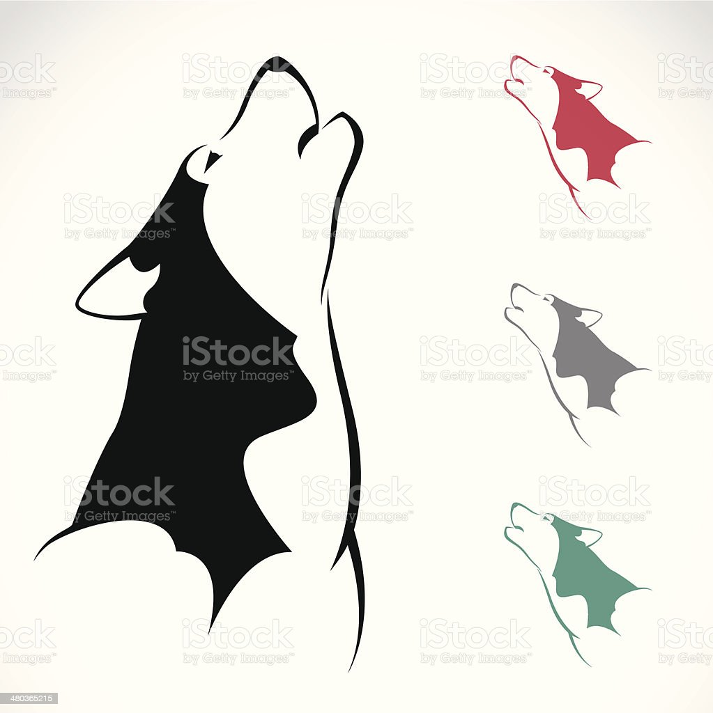 Vector image of an wolf vector art illustration