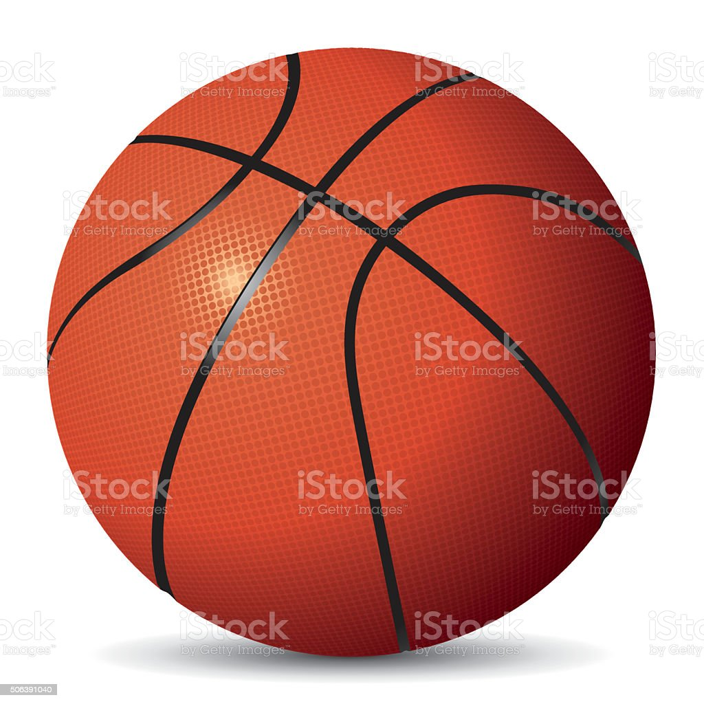 Vector image of basketball vector art illustration
