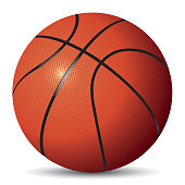 Vector image of basketball