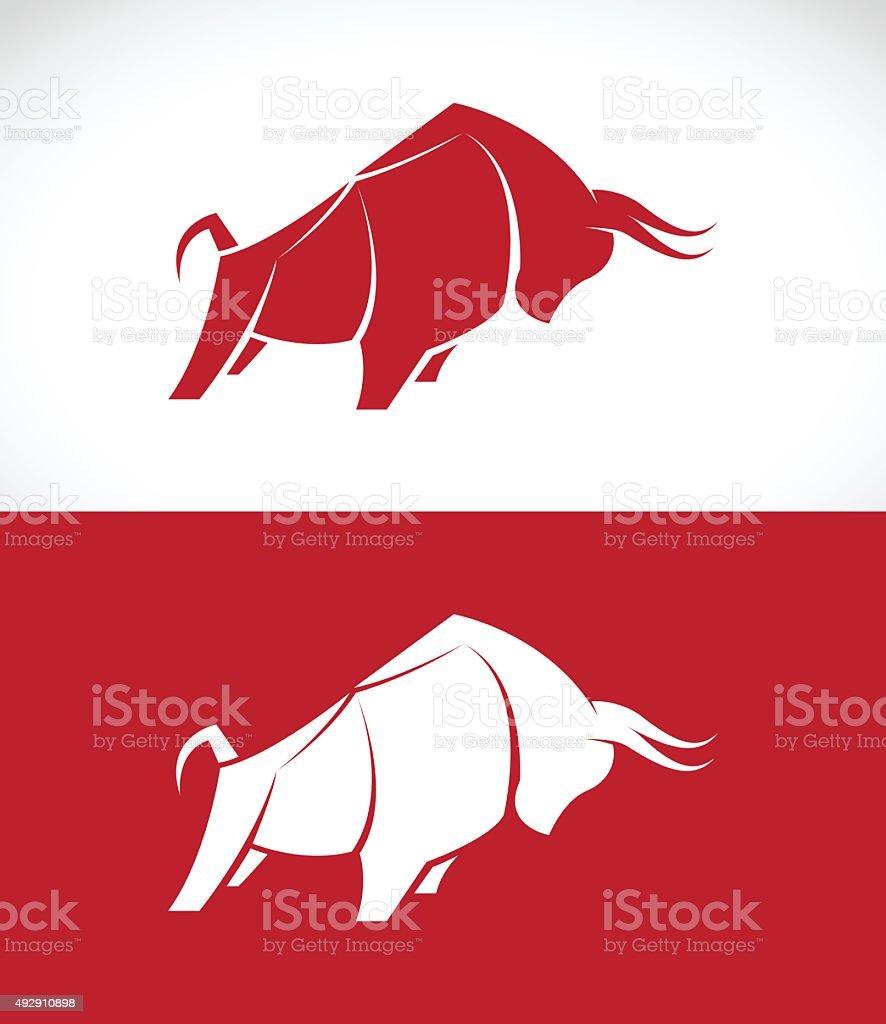Vector image of bull design vector art illustration