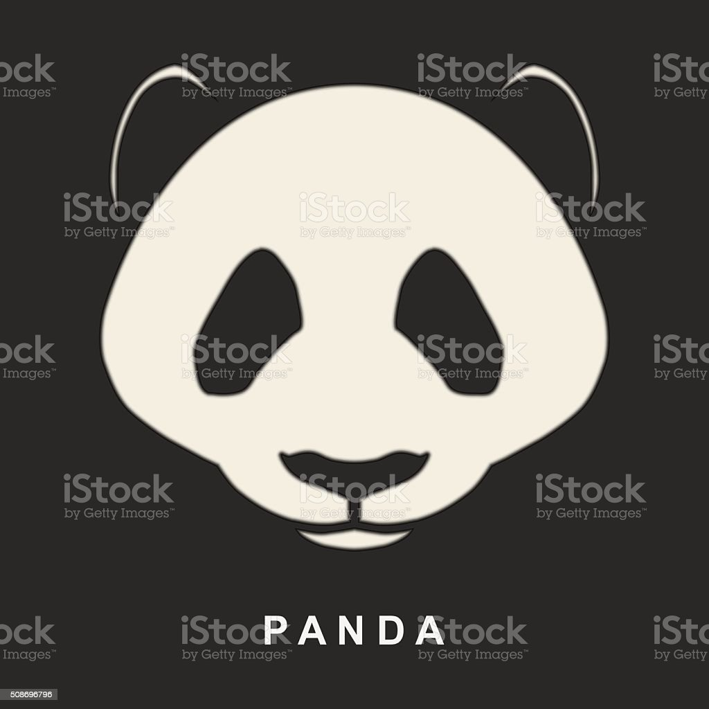 Vector image of Chinese Panda Bear. Cute bear snout. vector art illustration