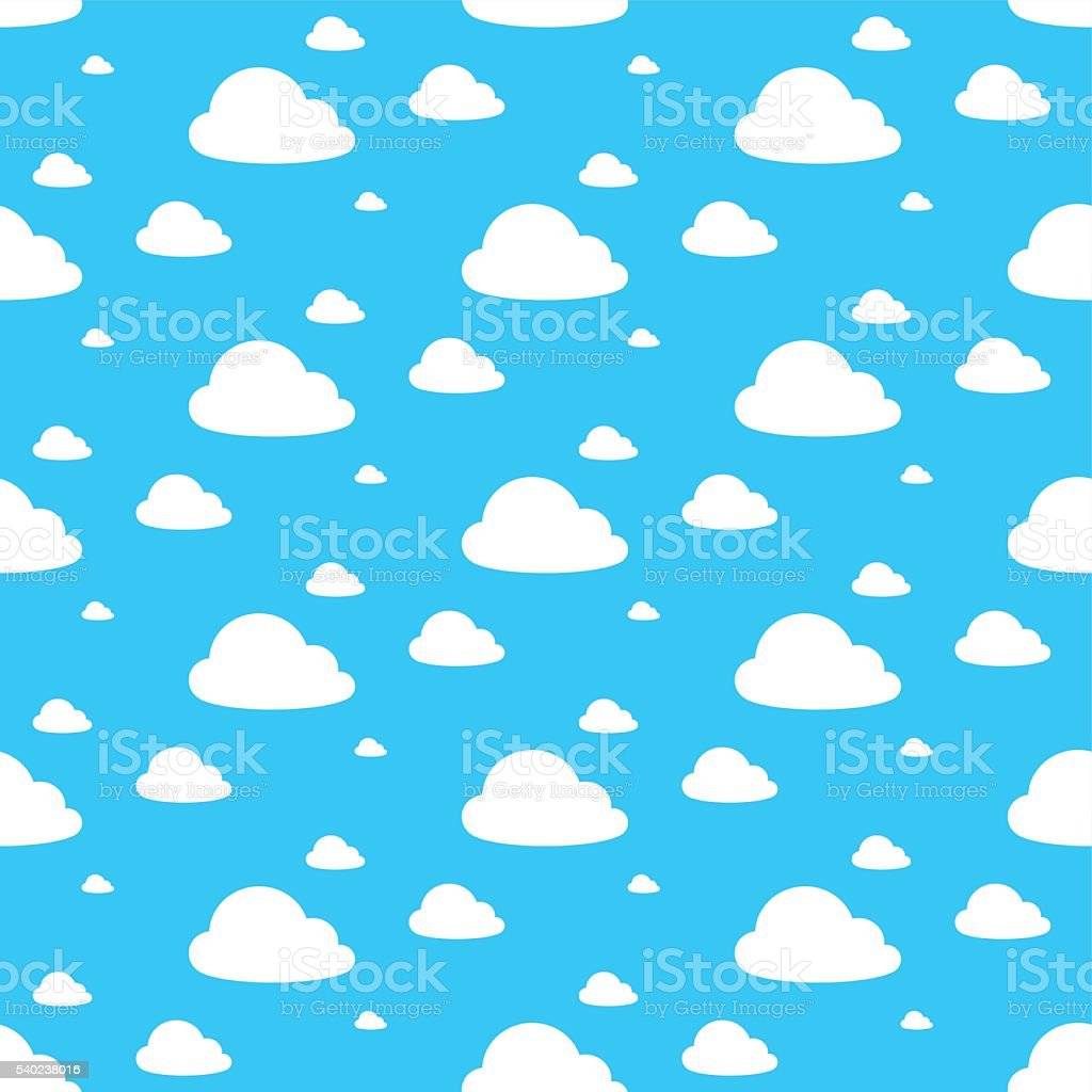 Vector image of clouds in blue sky vector art illustration
