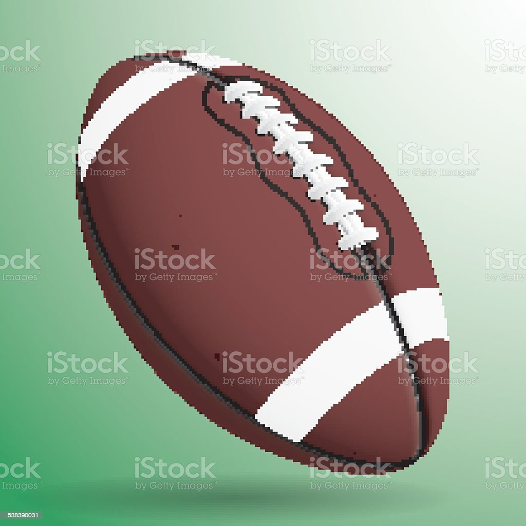 vector image of football ball vector art illustration