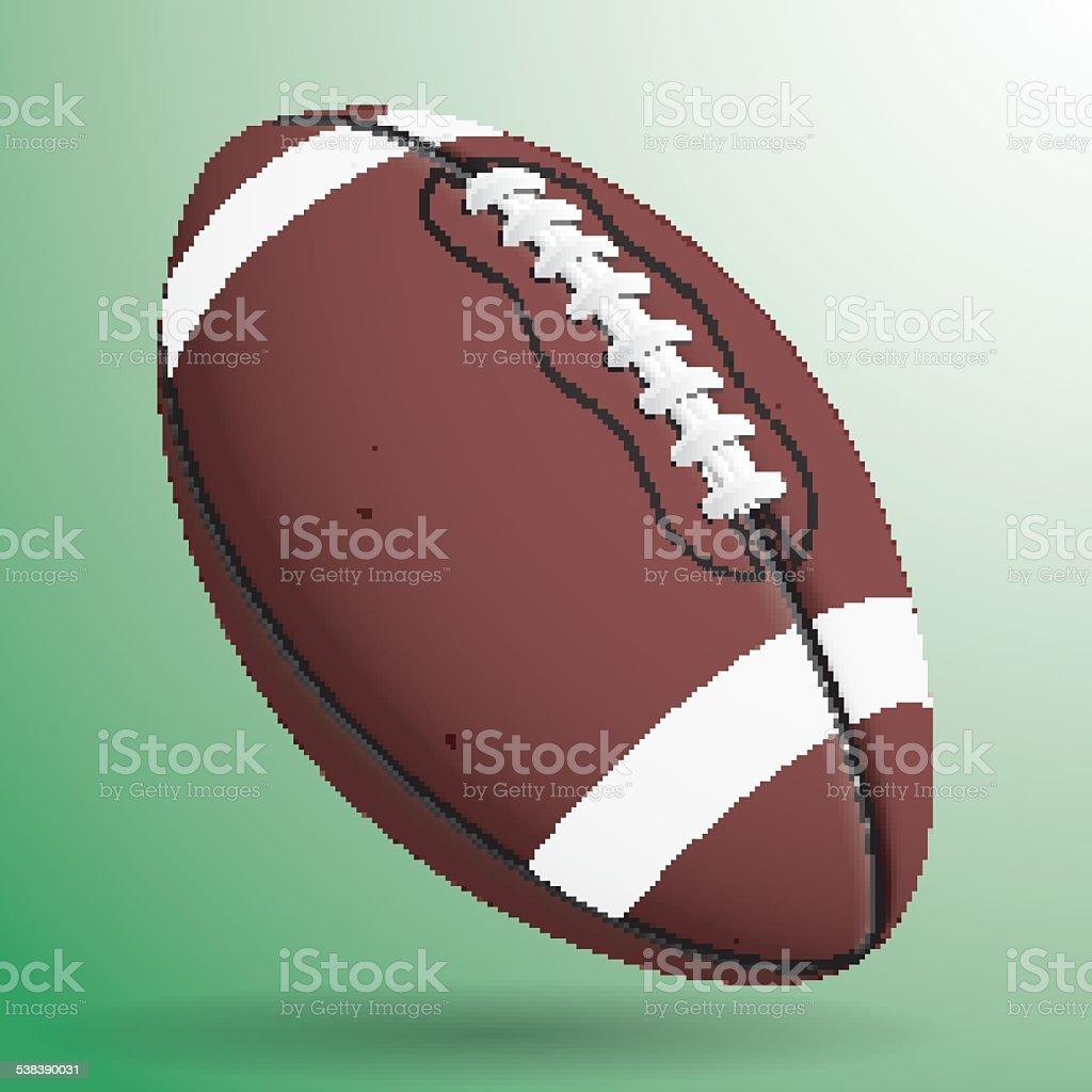 vector image of football ball vector art illustration