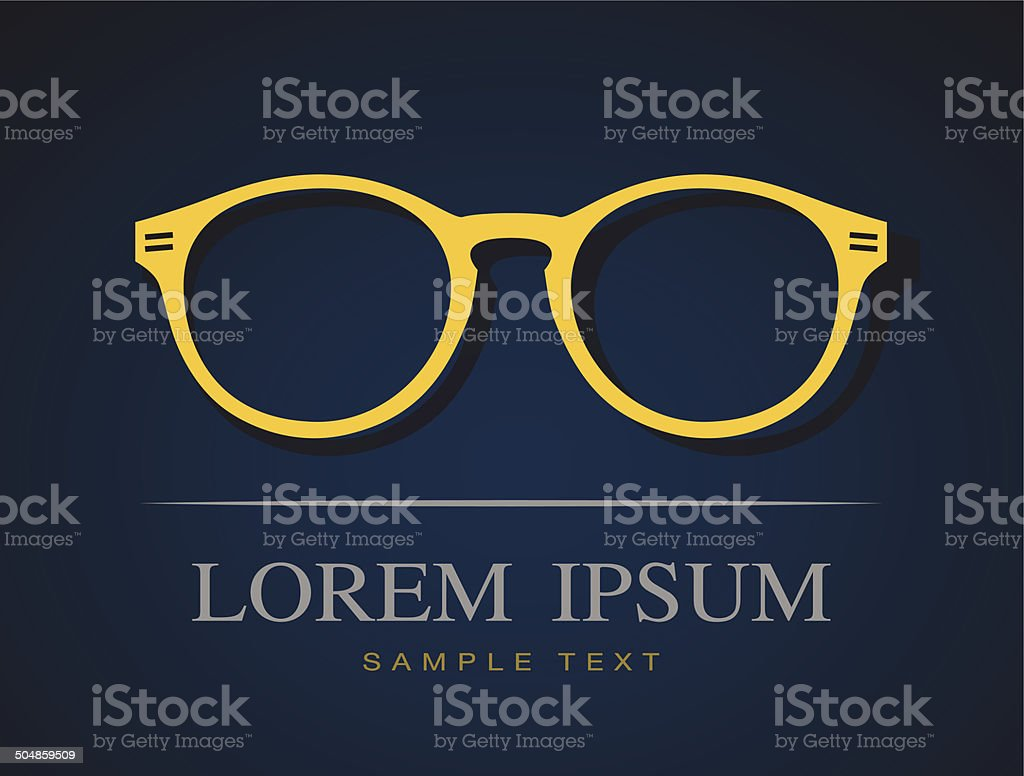 Vector image of glasses orange royalty-free stock vector art