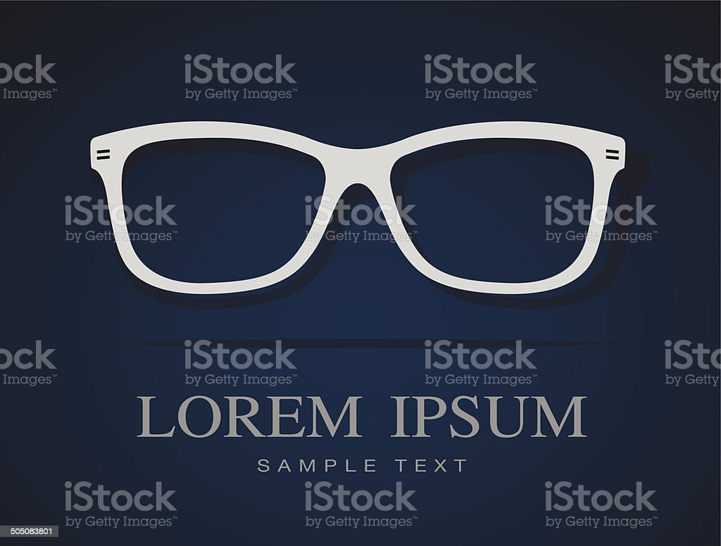 Vector image of Glasses royalty-free stock vector art