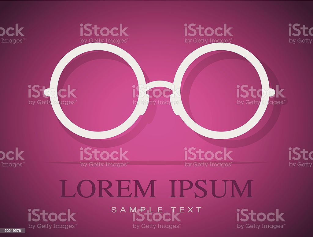 Vector image of Glasses white royalty-free stock vector art