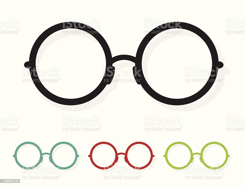 Vector image of Glasses white vector art illustration