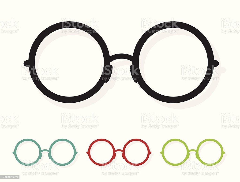 Vector image of Glasses white vector art illustration