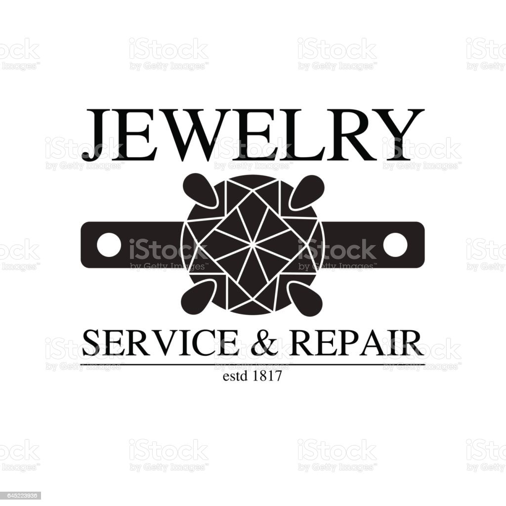 vector image of logo jewelry service. Trendy concept for repair shop or maintenance of jewelry products vector art illustration