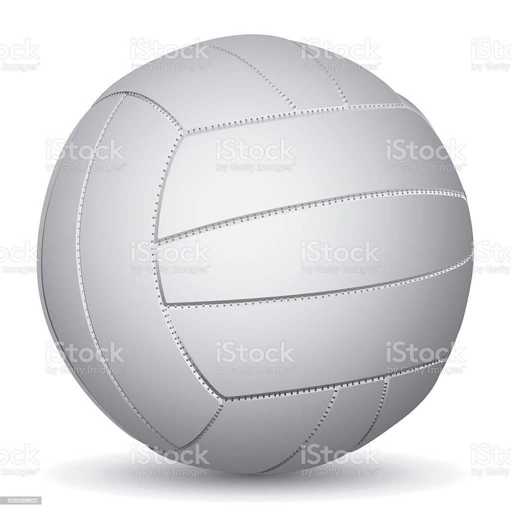 Vector image of Volleyball vector art illustration