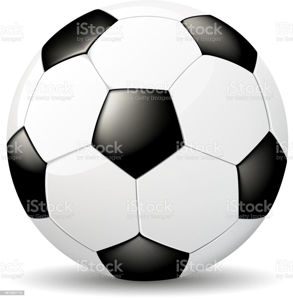Vector image of white soccer ball with black spots vector art illustration