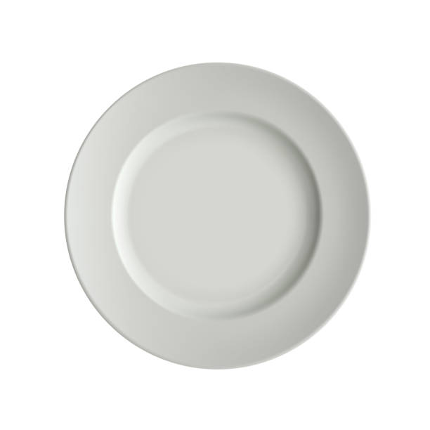 Empty Plate Clip Art, Vector Images & Illustrations - iStock