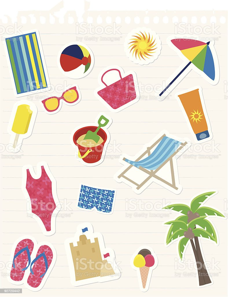 Vector image showing summer time vector art illustration