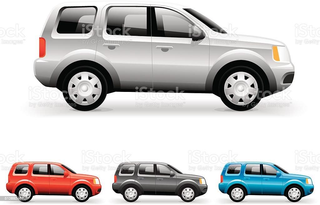SUV vector image vector art illustration