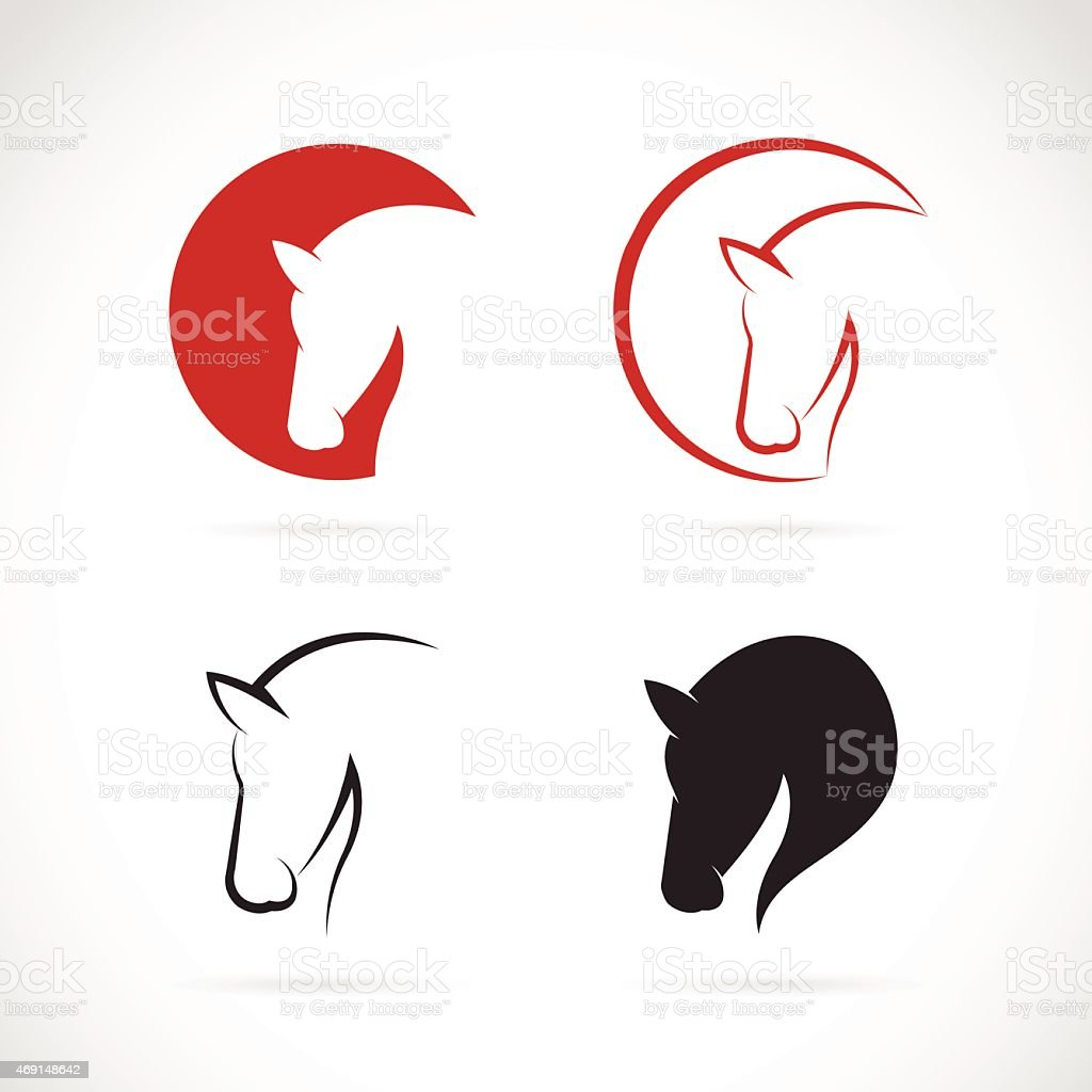 Vector images of horse design on a white background vector art illustration