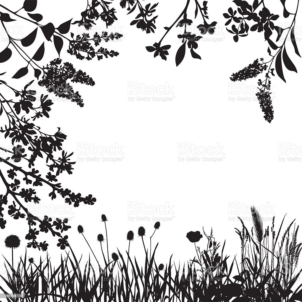 Vector images of leaves and flowers for spring royalty-free stock vector art