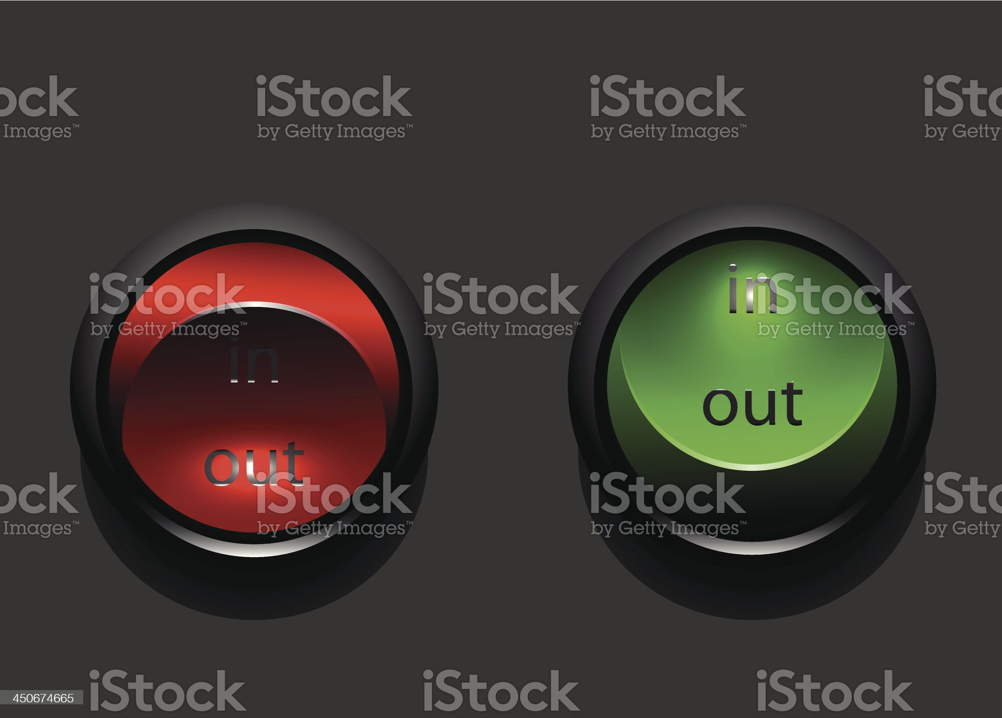 Vector in out toggle switches royalty-free stock vector art