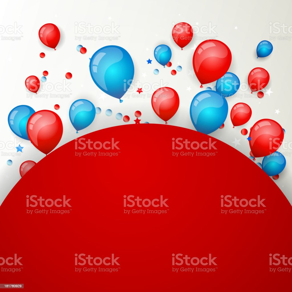 Vector Independence Day Design royalty-free stock vector art