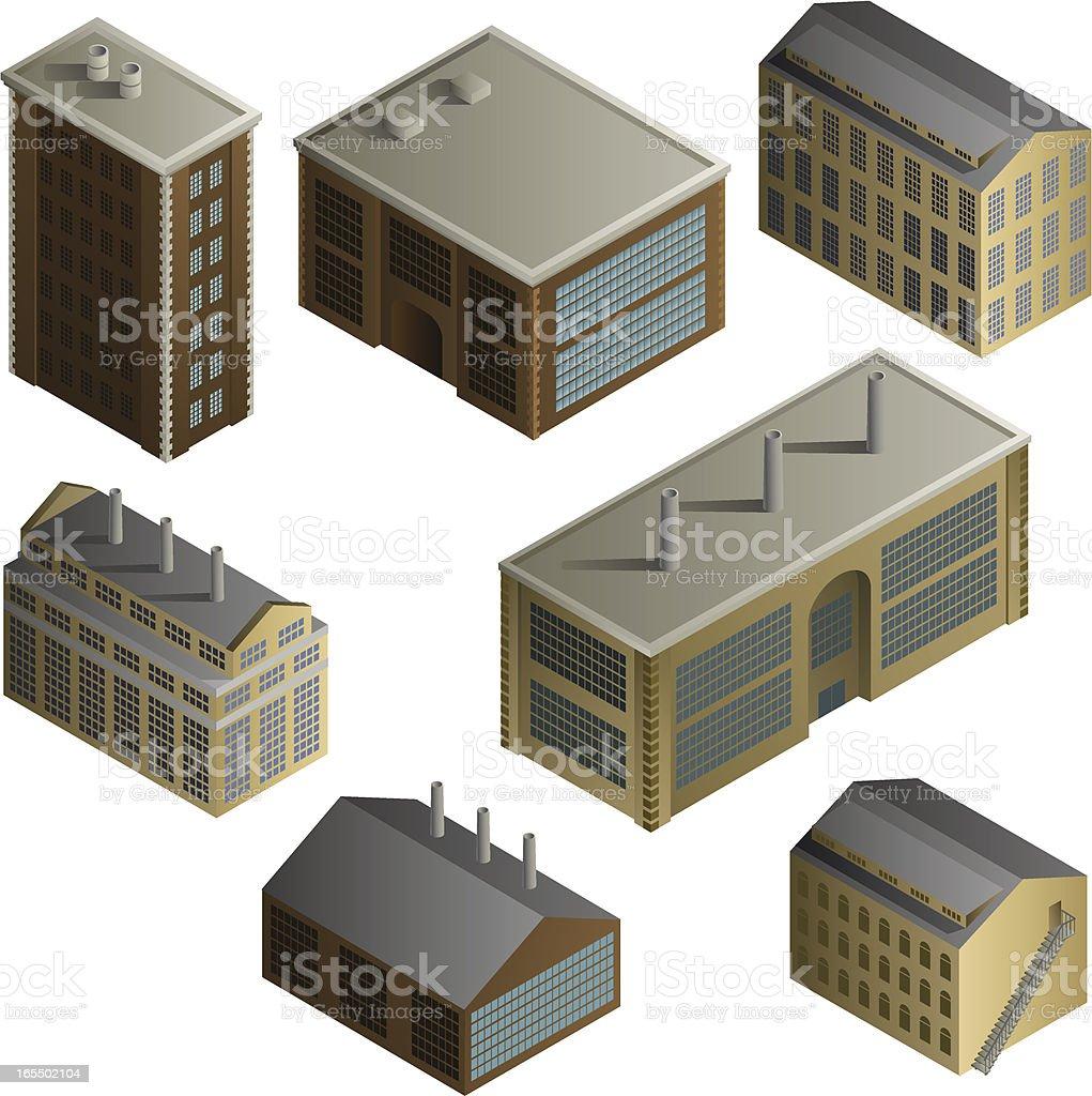 Vector Industrial Buildings royalty-free stock vector art