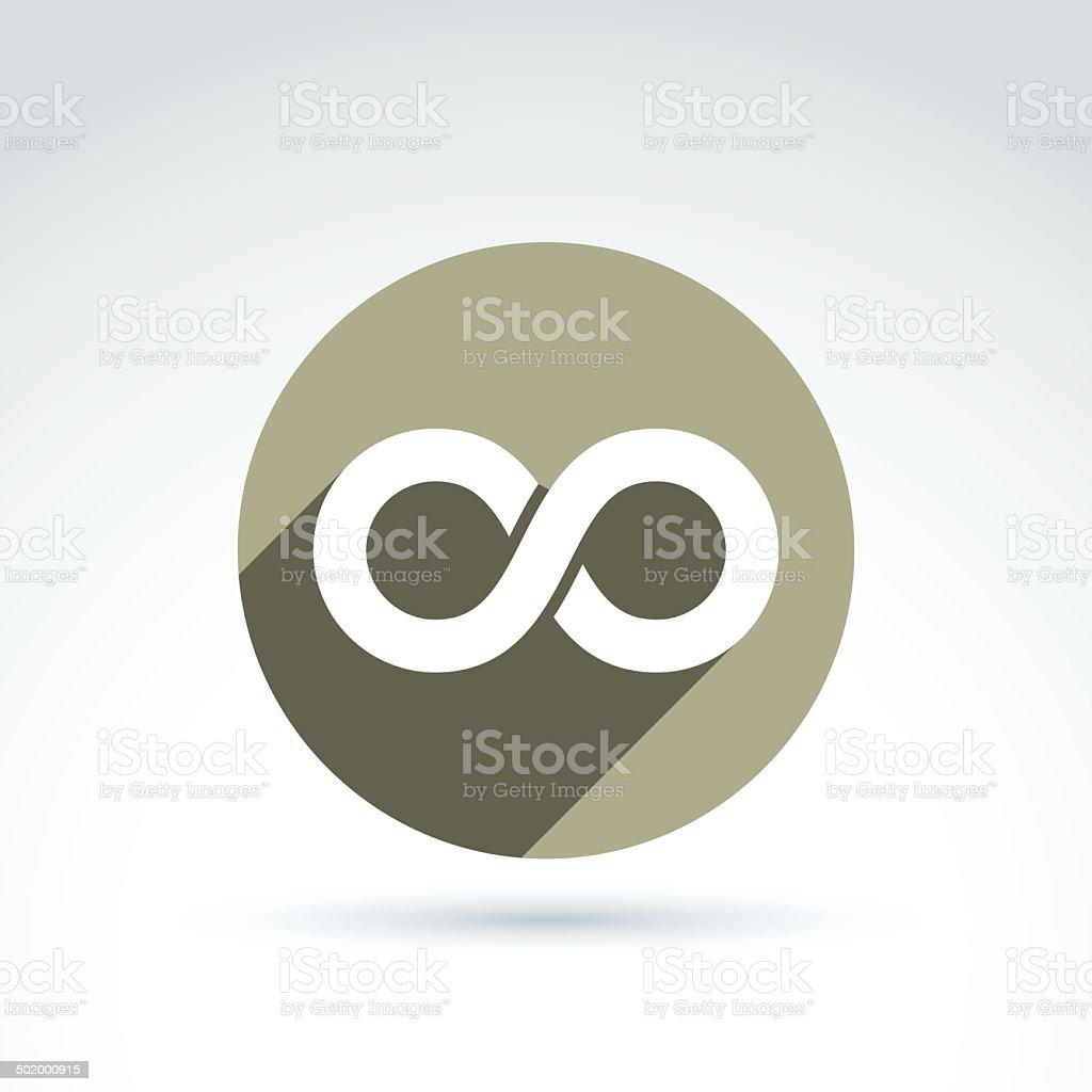 Vector infinity icon isolated on white background, illustration vector art illustration